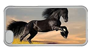 Hipster free shipping iPhone 5C covers Black stallion PC Transparent for Apple iPhone 5C