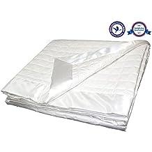 "Organic Australian Wool Blanket (Lightweight - Woolmark & Oeko-Tex Quality Certified - Luxurious & Washable) Queen - 91'' x 88"""