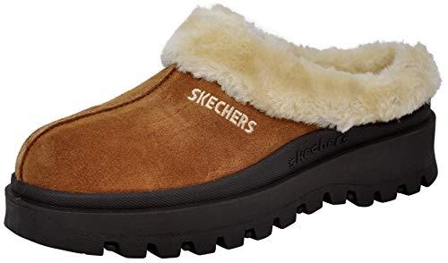 Skechers Women's Fortress Clog Slipper, Tan, 10 M US