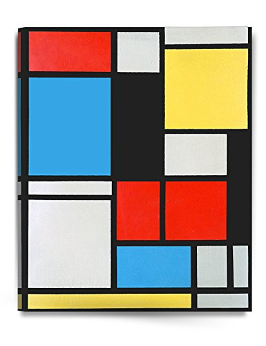 DecorArts - Ater Piet Mondrian Composition in blue, red and yellow Lithograph in colours. Giclee Canvas Prints Wall Art for Home Decor 24x30