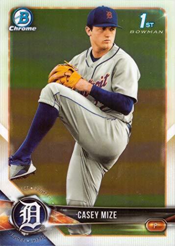 2018 Bowman Draft Chrome Baseball #BDC-1 Casey Mize Pre-Rookie Card - 1st Bowman Chrome Card