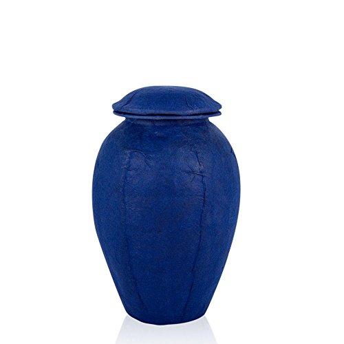 Perfect Memorials Navy Handmade Grecian Biodegradable Cremation Urn ()