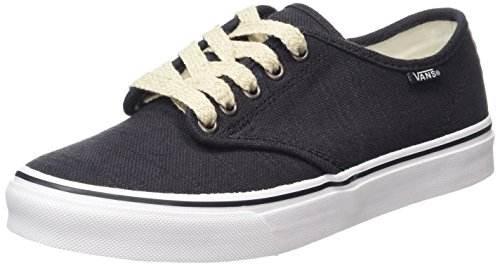 Vans Camden Stripe, Baskets Basses Femme Noir (Espadrille/Natural)