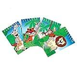 One Dozen (12) Zoo Animal Jungle Safari Theme Notepads, Health Care Stuffs