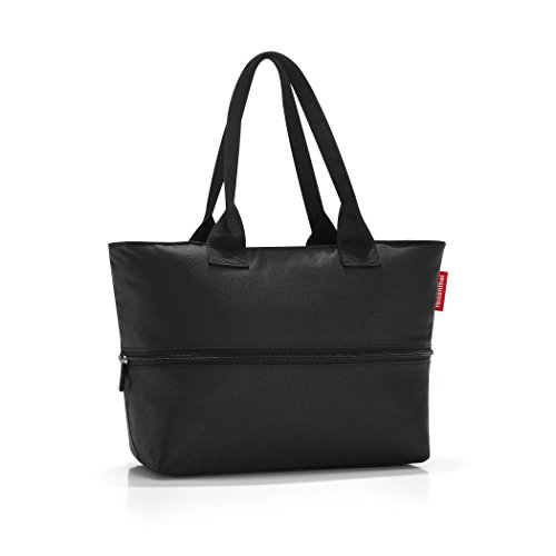 reisenthel Shopper E1, Expandable 2-in-1 Tote, Converts from Handbag to Oversized Carryall, Black