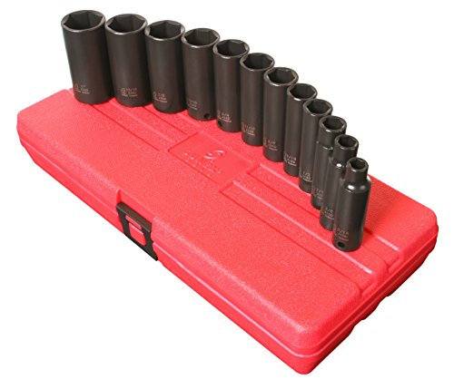 Sunex Tools 3361 3/8in Drive SAE Deep Impact Socket Set 12 P