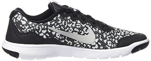 Nike Flex Experience 4Print (GS) scarpe da corsa bambino, (nero-bianco), 38.5 EU