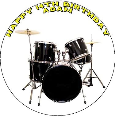 Pleasant 7 5 Drums Edible Icing Birthday Cake Topper Amazon Co Uk Kitchen Funny Birthday Cards Online Overcheapnameinfo