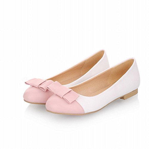 Carol Shoes Casual Womens Cute Bowknots Cuff Fashion Assorted Colors Sweet Flats Shoes Pink xtuRL1FLI5