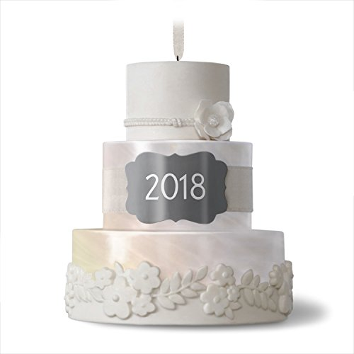 Hallmark New Life Together 2018 Wedding Cake Dated Ornament
