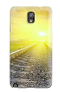 Galaxy Note 3 Case, Premium Protective Case With Awesome Look - Blinded Sun Rail Road Tracks Amp Digital BY icecream design