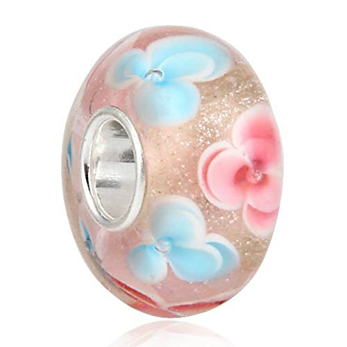 Rose Baby Pink Charm 925 Silver Core Murano Glass Bead Fit European Brand Charms Jew - Baby Glasses Brands