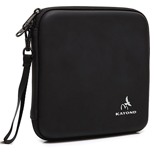 (KAYOND Portable Hard Carrying Travel Storage Case for External USB, DVD, CD, Blu-ray Rewriter/Writer and Optical Drives (Black))