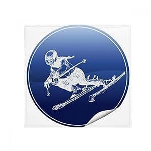 Alfombrilla de esquí de invierno con patrón retro, antideslizante, para baño, sala de estar, cocina, puerta, 60/50 cm, regalo