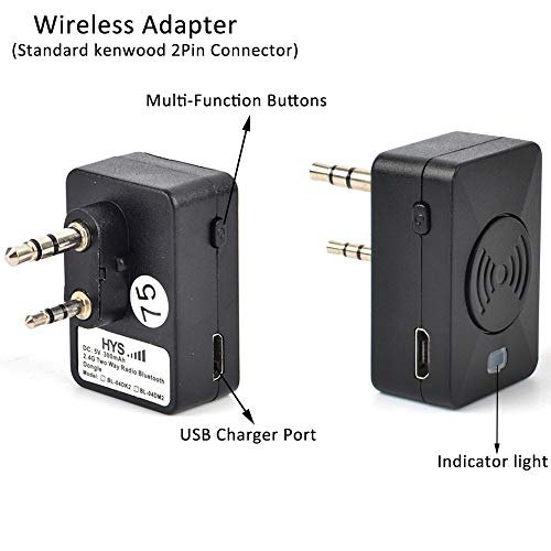HYS 2Pin Earpiece Wireless Bluetooth Ham Radio Earpiece