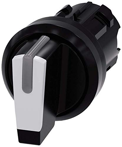 I-O-II Black IP66 IP67 22mm Black Plastic IP69K Protection Rating White Siemens Industry 3SU1002-2BM60-0AA0 Plastic Siemens 3SU10022BM600AA0 Selector Switch