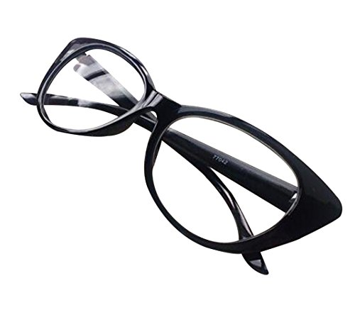 Aimeart Retro Vintage Women's Eyeglasses Cat Eye Glasses Plastic Frame NO LENS