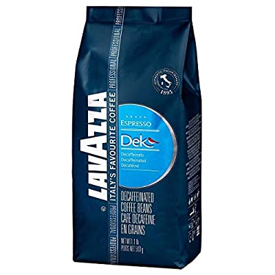 Lavazza Dek Whole Bean Coffee Blend, Decaffeinated Dark Espresso Roast, 1.1-Pound Bag by Lavazza