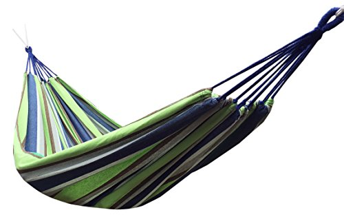 Mexican Hammock (Honesh Outdoor Leisure Double 2 Person Cotton Hammocks 450lbs Ultralight Camping Hammock)