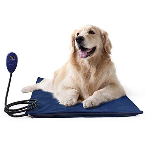 Almohadilla de calefacción para mascotas Calentador electrico Mantener caliente Impermeable Calefacción Alfombra para...