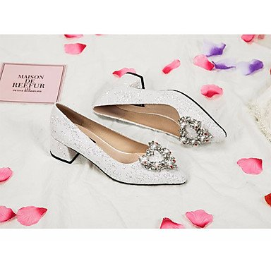 Casual for White Fall 4U Spring Heel Shoes Comfort Women's Wedding High Best Shoes White Lace qAgRP7Rw