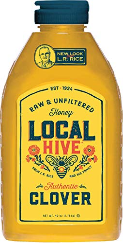 Local Hive from L.R Rice, Raw Honey, Pure and Unfiltered, Clover, 40oz (Best Local Honey For Allergies)