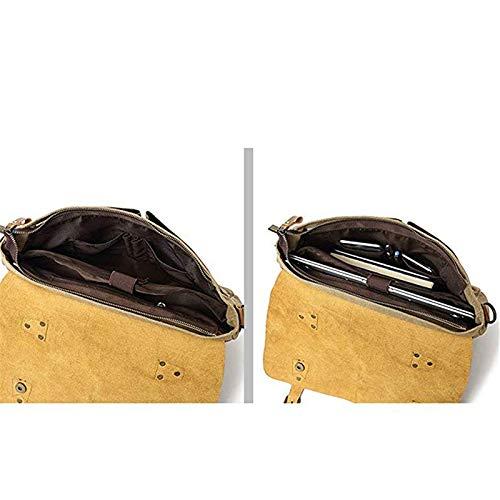 Chen Per Borsa Lavoro A5 In A A1 Uomo Da Cartella colore Tracolla Pelle Notebook R1qrFpRxw