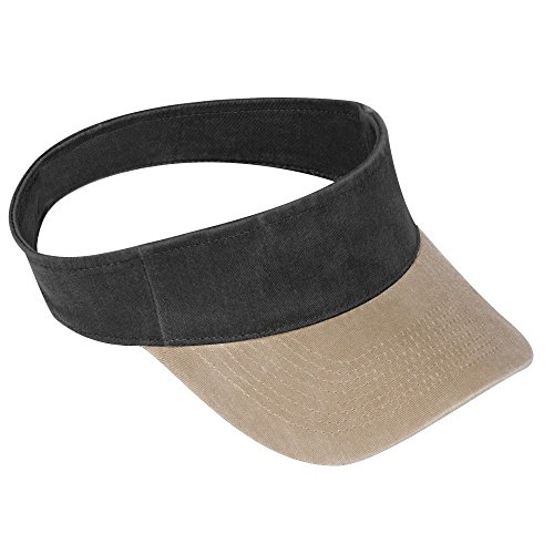 nt Washed Pigment Dyed Cotton Twill OTTO Flex Sun Visor - KHA/Blk (Garment Washed Pigment Dyed Twill)