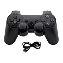 Finera PS3 Controller Wired Dualshock 3,Six Axis Controllers Gamepad for Playstation 3/ PS3(Not Lithium Battery Bluetooth Controller)