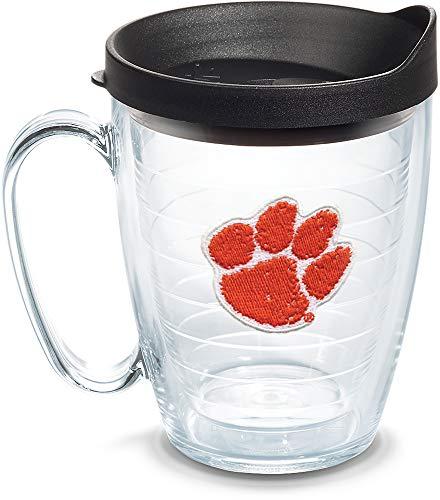 - Tervis 1056662 Clemson Tigers Clemson Tumbler with Emblem and Black Lid 16oz Mug, Clear