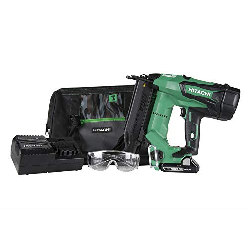 "Hitachi NT1850DE 18V Cordless Brad Nailer, Brushless Motor, 18 Gauge, 5/8"" to 2"" Nails, Compact 3.0 Ah Lithium Ion Battery, Zero Ramp-Up Time, Lifetime Tool Warranty"