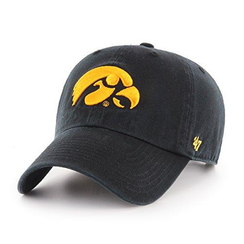 Iowa Hawkeye Gear (NCAA Iowa Hawkeyes Clean Up Adjustable Hat, One Size, Black)