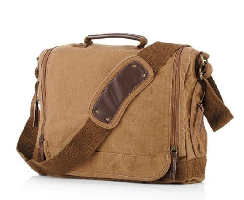 ee9cd0eff1 YSYT Deal S.C. Cotton New Men Women Cross Body Retro Fashion Causual Style Messenger  Canvas Khaki Shoulder Bag School Travel Bag DSLR Camera Canvas bag ...