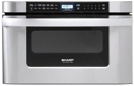 Sharp KB-6524PS 24-Inch Microwave Drawer Oven, Stainless steel (Auto Measure Carousel)