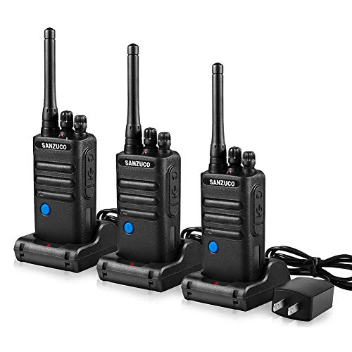 Double PTT 2 Way Radios UHF Long Range Two Way Radio Set SANZUCO Talkabout Security Rechargable...