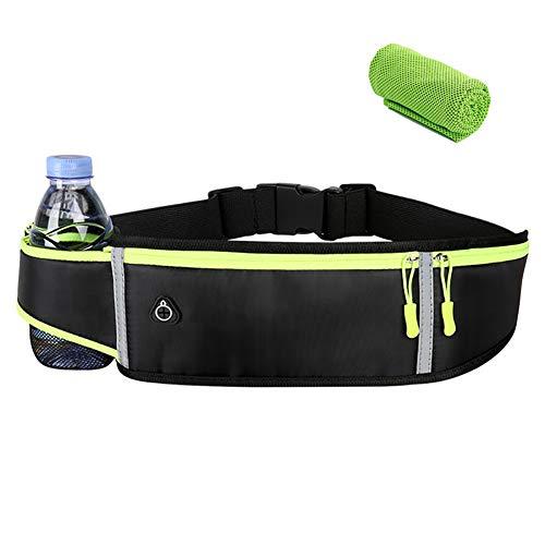 Loopriem voor dames en heren, waterdicht, heuptas, sporttas, waterdicht, tas met flessenhouder voor mountainbike…