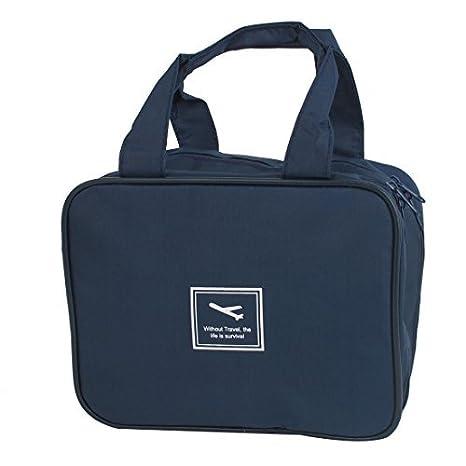 Amazon.com: La Colada del recorrido del artículo de tocador Artículos de tocador de belleza cosmética del bolso Azul Oscuro: Health & Personal Care
