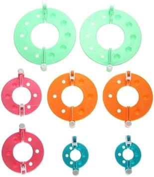 Big Bargain - Kit de 8 Piezas de Herramienta de Artesanía de Agujas de Tejer para Bola de Pulsas, Pompones - 4 Tamaños