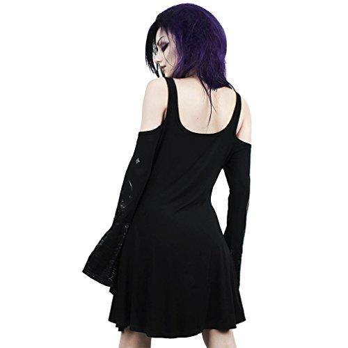 Nightshade Skater Kleid Schwarz Skater Killstar Killstar Schwarz Killstar Nightshade Kleid Kleid Skater qt4dd