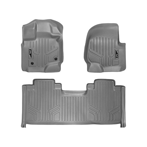 MAX LINER A2167/B2172 Custom Fit Floor Mats 2 Liner Set Grey for 2015-2019 Ford F-150 SuperCab with 1st Row Bucket Seats ()