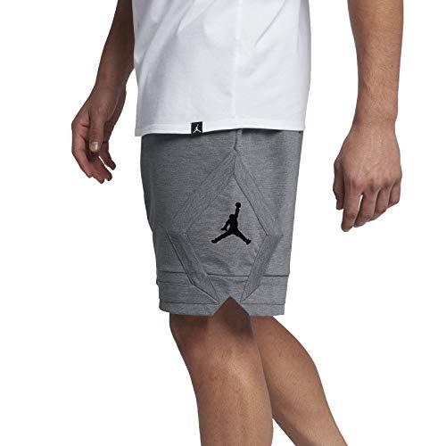 Jordan Nike Jumpman GFX Knit Shorts Men's (Large, Gray\Black)