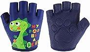 Kids Half Long Finger Climbing Gloves for Age 1-10 Boys Girls Gymnastics Monkey Bars, Good Grip Control Gloves