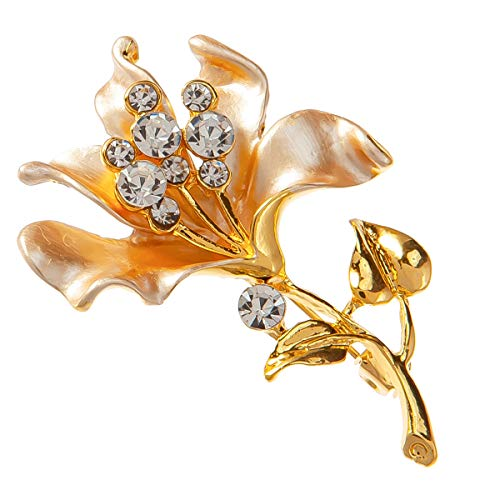 Lily Flower Brooch - Flower Brooch Lily Brooch Mom Gift Broach Pin for Women Jewelry