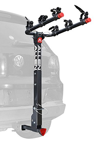 Interior Bike Carrier - Allen Sports Deluxe Locking Quick Release 3-Bike Carrier for 2 in. & 1 4 in. Hitch