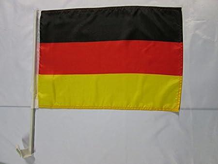 Az Flag Autofahne Deutschland 45x30cm Deutsche Autoflagge 30 X 45 Cm Auto Flaggen Garten