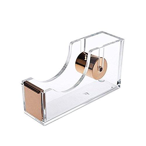 Wholesale Acrylic Gold Tape Dispenser , Modern Design Office Desk Accessory (Gold) hot sale