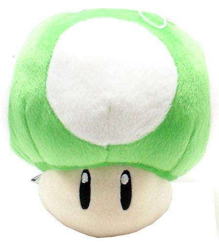 Super Mario Brothers Green Mushroom 8-inch Plush by - Plush Mushroom Mario