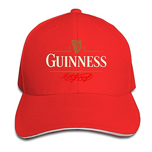 sunny-fish6hh-unisex-adjustable-guiness-baseball-caps-hat-one-size-red