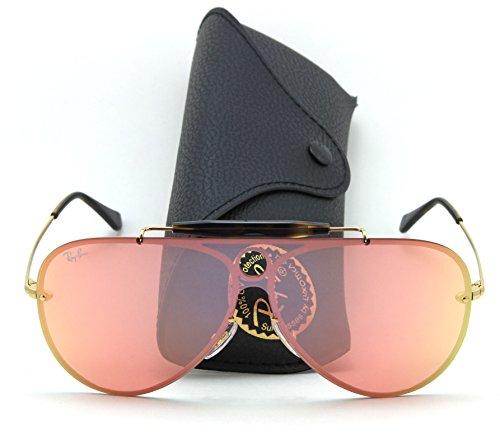 Ray-Ban RB3581N BLAZE SHOOTER Mirror Sunglasses 001/E4, - Ban Blaze Ray
