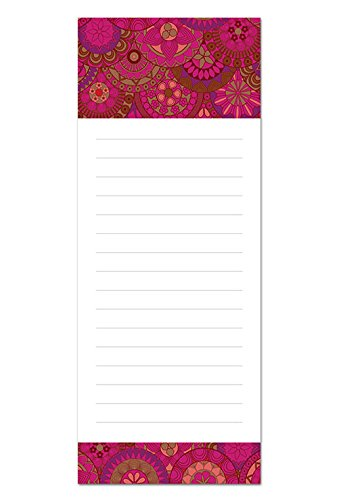 6 Magnetic Notepads - Global Design Series - 6 Different Designs on 3.5'' x 9'' Pads
